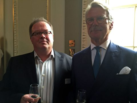 Pekka Valo meets Björn Wahlroos, the chairman of the Board in Sampo Group, Nordea and UPM-Kymmene.